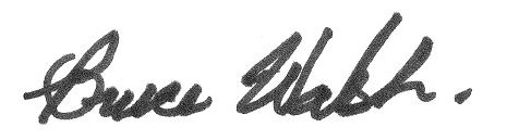 Bruce's signature
