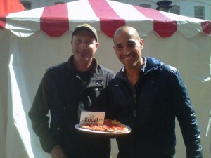 Our Director Steve Stacey with Celebrity Chef David Rocco