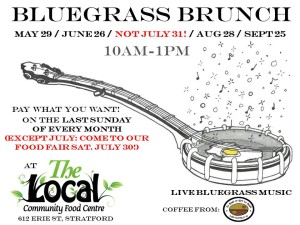 Bluegrass Brunch @ The Local Community Food Centre | Stratford | Ontario | Canada